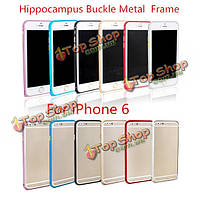 Ultra тонкий гиппокамп пряжки металла рамка Бампер для iPhone 6