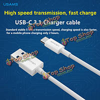 USAms 1м USB3.1 Type-C высокой скоростью транспортного быстрое зарядное устройство кабель для MacBook 2015 Пусть V телефон Nokia n1