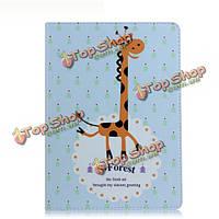 Мило жирафа шаблон Flip PU кожаный чехол для iPad случай Mini2