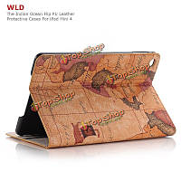 WLD A003 The Indian Ocean Plate Shell Flip PU Leather Protective Cases For iPad Mini 4