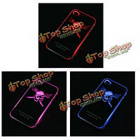 Смысл пиратский череп вспышка света LED 6 изменение цвета случае для iPhone 4
