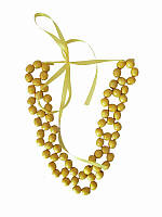 Колье Орися желтое (Украинская бижутерия)