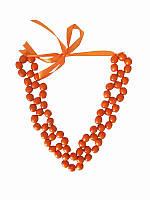 Колье Орися оранжевое (Украинская бижутерия)