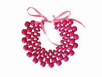 Колье Мелания розовое (Украинская бижутерия)