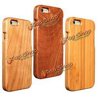 Деревянная древесина задняя крышка бамбука защитный твердой оболочки кожи случая для яблока iPhone 6 6s 4.7 дюйма