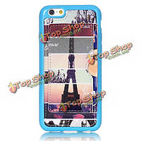 Fashion Eiffel Tower Creative Back Holder Protector Case For iPhone 6/6s Plus