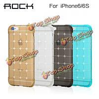 ROCK магия Cube TPU силиконовый прозрачный мягкий чехол ударопрочный защитная оболочка для iPhone 6/4.7-дюйма 6s
