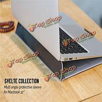 Kajsa Ультра тонкий кожаный складной лист защитный чехол рукавом сумка для Apple MacBook 12