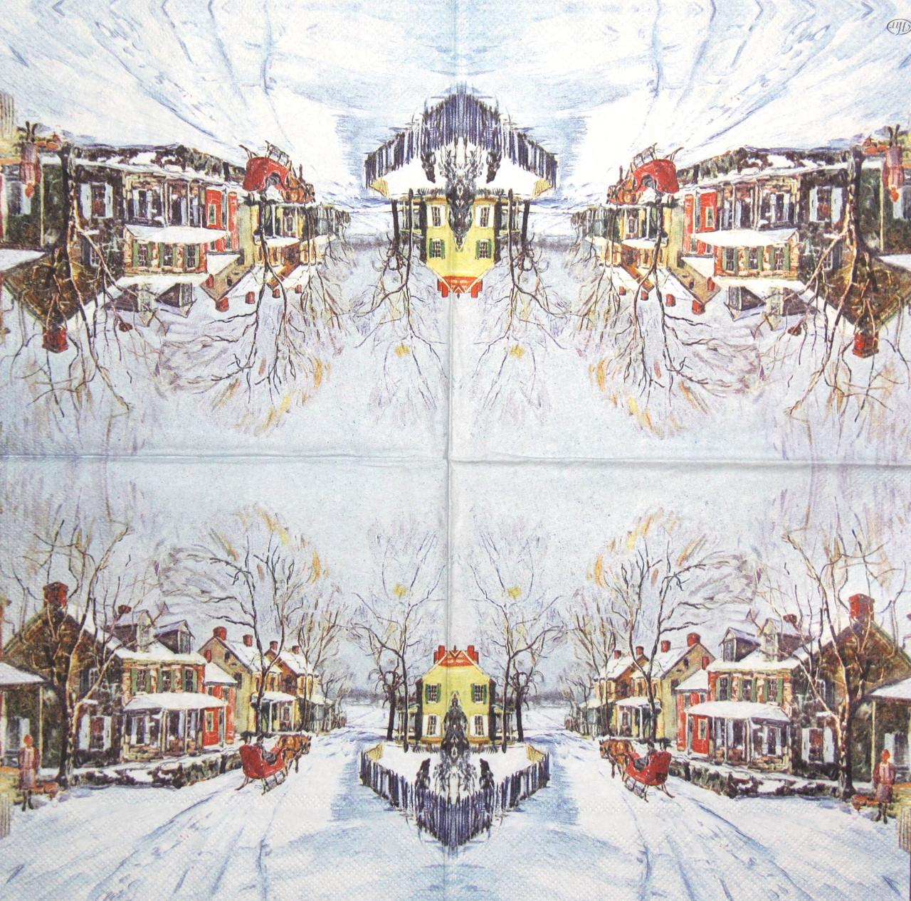 Селыетки декупажні Зимова село 1238