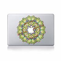 Зеленый цветок пропуск ноутбук кожи стикер винила стикер пропуск для Apple MacBook 11'' 12'' 13'' 15'' 17'