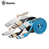 Baseus USB Type 2.1a с кабель синхронизации Дата зарядки Type-C кабель для MacBook Nokia N1 Google пе