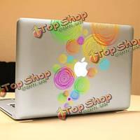 PAG цветные кольца декоративные ноутбука Наклейка съемный пузырь бесплатно самоклеящиеся наклейки кожи