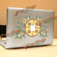 PAG цветок диска ноутбука Наклейка декоративная съемная пузырь бесплатно самоклеящиеся наклейки кожи