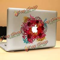 PAG цветущие кусты декоративные ноутбука Наклейка съемный пузырь бесплатно самоклеящиеся наклейки кожи