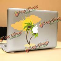 PAG кокосовое дерево декоративное ноутбука Наклейка съемный пузырь бесплатно самоклеящиеся наклейки кожи