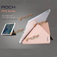 ROCK вита Series розово-золотой мульти-складная подставка Tablet чехол для Apple iPad Mini 4