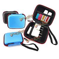 Guanhe квадратной формы жесткий ЭВА наушники мешок кабелей зарядное устройство USB флэш-накопитель ящик для хранения сумка