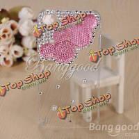 3D Lovely мышкой Sparkle bling кристалла алмаза случае для iPhone 4