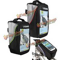 Roswheel велосипед кринолин рама езда на велосипеде мешок передней трубки для iPhone 6 6s сотовый телефон Samsung