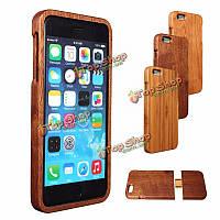Деревянная древесина задняя крышка бамбука защитный жесткий чехол оболочку кожи для Apple iPhone 6/6с Plus 5.5 дюйма