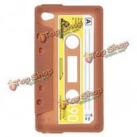 Уникальные ретро кассеты ленты силиконовый чехол для ipod touch 4 кофе
