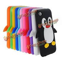 3D милый пингвин мягкий резиновый силиконовый чехол для iPod сенсорный 4