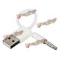 3.5мм USB синхронизации данных зарядный кабель шнур для док-крышка для iPod