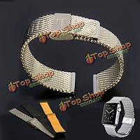 Магнитная застежка -милански тканые из нержавеющей стали часы ремешок Ремешок для 38мм Apple часы
