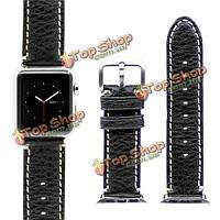 Kajsa 38мм нео классический ремешок кожаный ремешок стальная пряжка диапазона вахты Apple часы