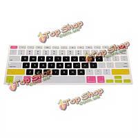 US многоцветный силиконовый чехол кожа клавиатуры для MacBook Pro