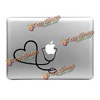 Hat-Prince стильный в форме сердца стетоскопом кожи шаблон декоративные наклейки для MacBook 13.3-дюймов 15.4-дюймов