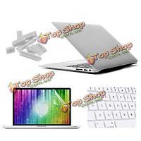 Матовое стекло enkay защитный клавишный фильм экрана покрытия раковины анти-штепсель пыли установлено для MacBook Air 13.3 дюймов