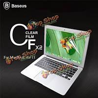 Baseus 2 х Ultra тонкий прозрачный экран фильма Clear защита гвардии чехол для Apple MacBook Air 11