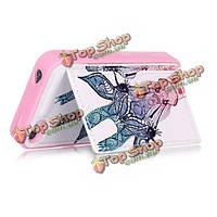 Кожа TPU+pu розовое творческое elephant/flower/dog/tribe/giraffe/ok/macaron прикрытие случая для iPhone 4 4 s