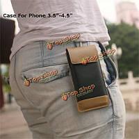 CaseMe кемпинга мешок ретро PU кожаный бумажник случай с карабином крючком для Apple iPhone 4 4s 5 5s 5c