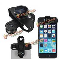 Рыбий глаз+широкоугольный+макро-объектив+автоспуск фотоаппарата fisheye для iPhone 5