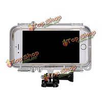 Экстремальные виды спорта водонепроницаемая оболочка с GoPro винт камеры кронштейн для iPhone 6 6s 4.7 дюйма