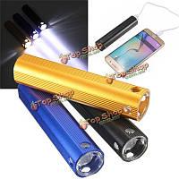 2в1 4000мАh USB Power банк LED фонарик зарядное устройство для iPhone Samsung