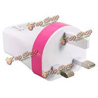 Вилка Великобритании 5V 3.4a 3 USB порта перемещения дома зарядное устройство быстрой зарядки питания адаптер