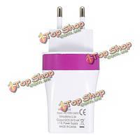 ЕС плагин 5V/3.4a 3 порт питания USB зарядное устройство быстрой зарядки адаптер перемещения дома