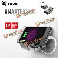 Baseus портативный Dual USB путешествия стены умный зарядное устройство адаптер с цифровым дисплеем