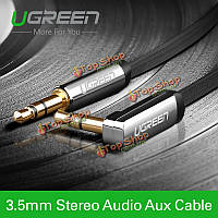 Аудио 3.5мм автомобиль AUX шнур кабель ugreen 2m прямой до 90° под прямым углом плоские для iPhone mp3/4