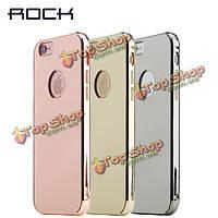 ROCK бесконечная серия роскошь зеркало металлизированный крышка случая защитной оболочки для iPhone 6 6s 6 Plus 6s плюс