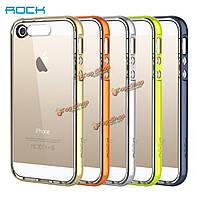 ROCK dazzle цвет входящем звонке мигает свет ударопрочный телефон TPU чехол для iPhone 5 5s в 4-дюйма