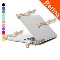 Эмблема покрытия заморозила поверхностный матовый ноутбук в твердом переплете защитный случай для сетчатки MacBook Pro 15.4 дюймов