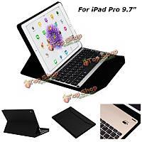 Алюминиевая беспроводная клавиатура Bluetooth кожаный чехол крышка PU с подставкой для iPad Pro 9.7 дюймов