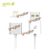 Wsken металла одного сплава одиночный выпуск магнитный кабель для iPhone 5/5S 6/6с 6/6с Plus iPad mini iPad Air