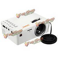 Мини портативный проектор домашний кинотеатр Full HD 1080p  LED USB TV SD AV