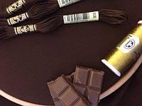Равномерная ткань - цвета шоколад (Украина)