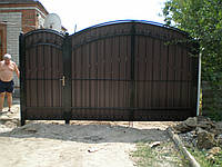 Ворота ковка + профнастил M140PR